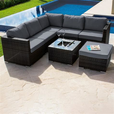 outdoor furniture sectional sofa maze rattan london outdoor corner sofa set internet gardener