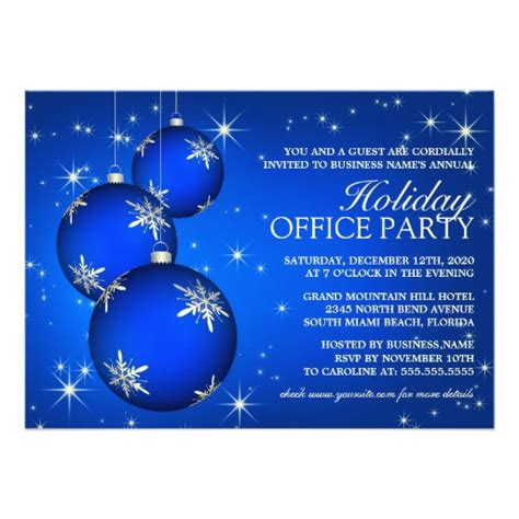 corporate holiday party invitation template 4 5 quot x 6 25