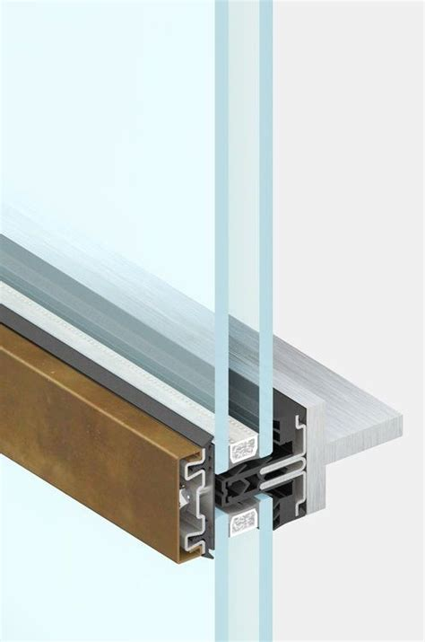 stainless steel curtain wall 4f2 is the thermally broken curtain wall available in