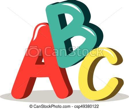 abc learning symbols isolated abc illustration learning