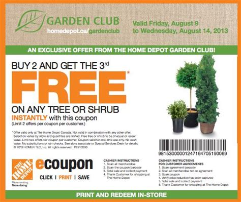 scannable home depot 10 coupon code 2017