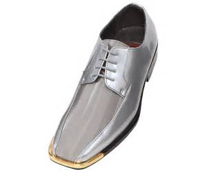 mens gray dress shoes bolano mens grey oxford striped satin dress shoe w gold