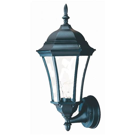 Outdoor Lighting At Lowes Shop Acclaim Lighting Brynmawr 17 In H Matte Black Outdoor Wall Light At Lowes