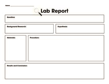 lab report template by carroll teachers pay teachers