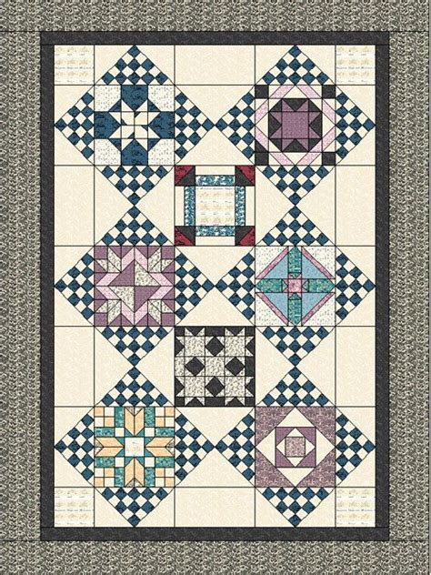 Downton Quilt Patterns by Around The Block Downton Quilt Quilts