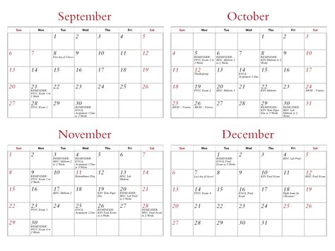 how to use a quot semester at a glance quot wall calendar sfu