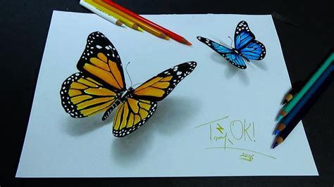 schmetterling 3d 3d butterfly drawing