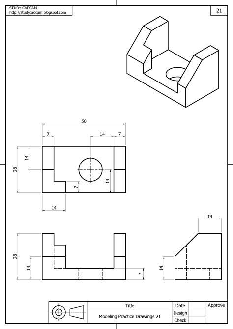 Sólidos | Vistas dibujo tecnico, Dibujo tecnico ejercicios