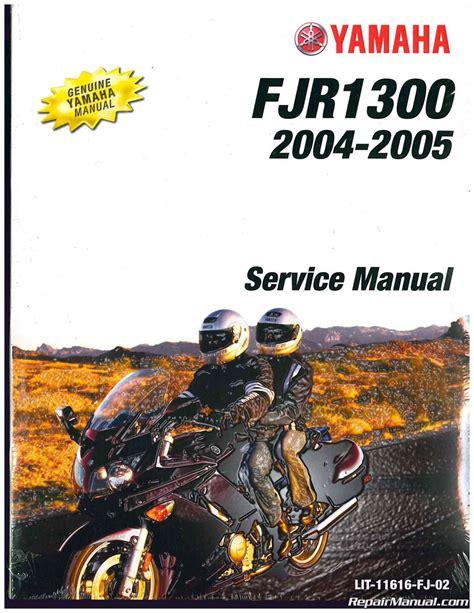 2004 2005 Yamaha Fjr1300 Motorcycle Service Manual