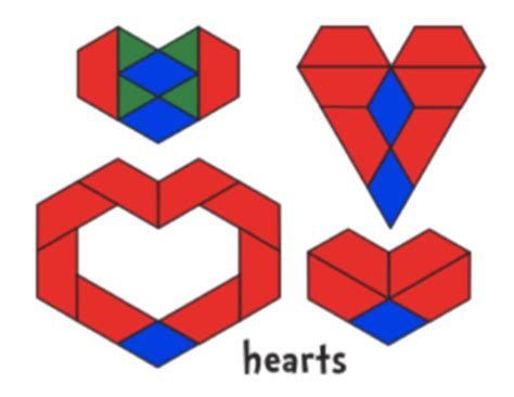 heart pattern block templates valentine s day math can spark a love of symmetry