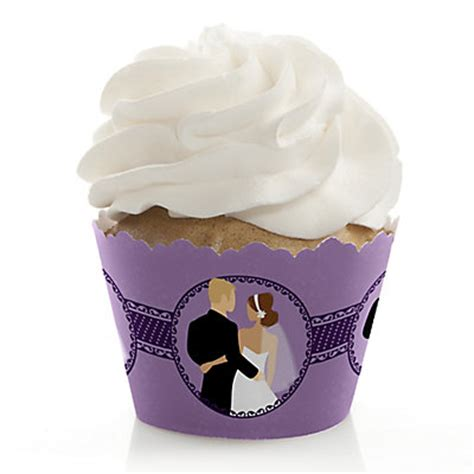 cupcake liners for bridal shower purple color themed bridal shower planning ideas