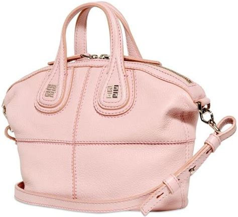 light pink givenchy bag givenchy mini nightingale grained leather bag in pink