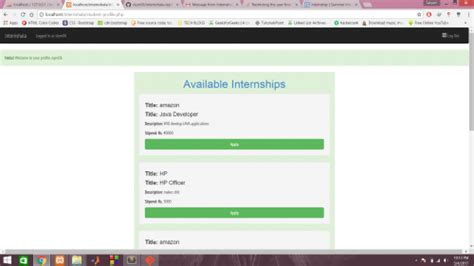 tutorial backend bootstrap internship portal using php and bootstrap free source
