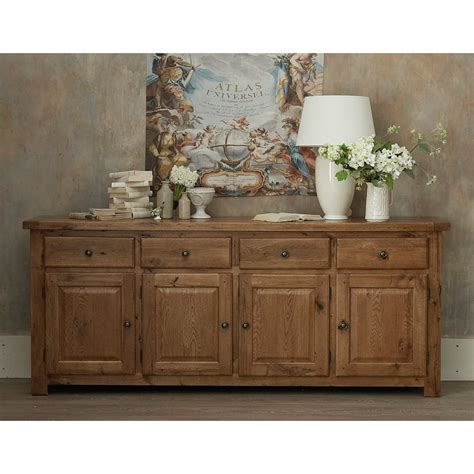 emporium home bretagne rustic oak 4 door sideboard