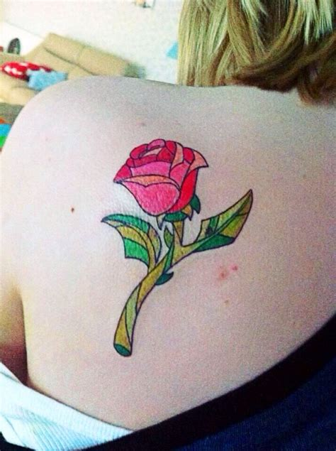 enchanted rose tattoo and the beast disney ink tattoos