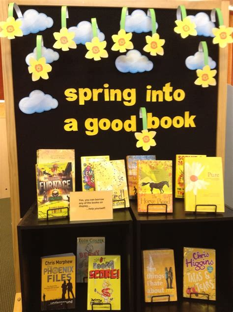 book display ideas library displays spring into a good book