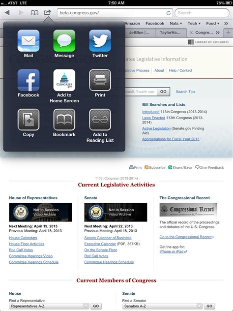 add congress gov to your home screen in custodia legis