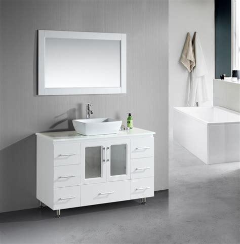 48 inch single sink bathroom vanity with lots of drawers