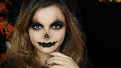 jack  lantern easy halloween makeup tutorial loepsie