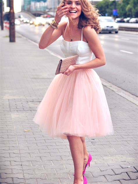 pink knee length tutu skirt