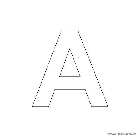 Letter Stencil Templates by Letter A Stencil New Calendar Template Site