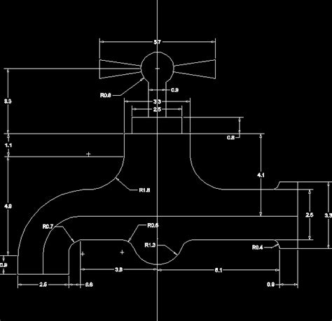 Faucet Cad by Faucet In Autocad Drawing Kamocad