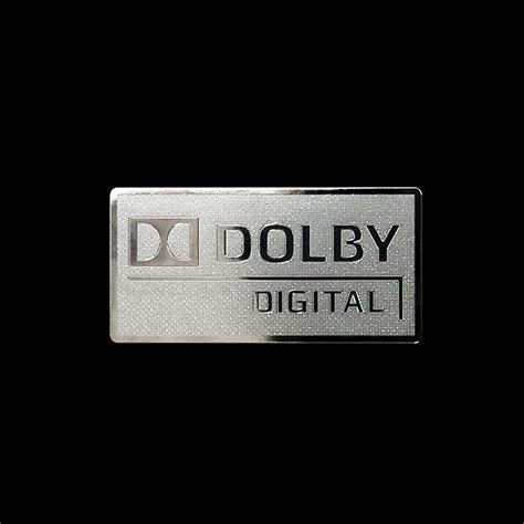 Stiker Digital dolby digital logo metal decal sticker computer pc