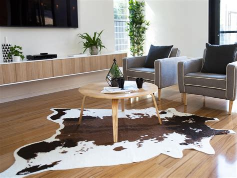 how to make a cowhide rug mocka faux cowhide rug living room decor
