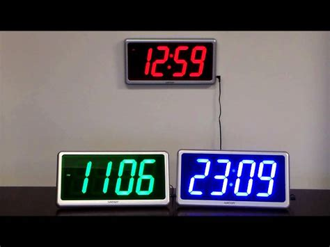 ivation clock ivation large display electric led wall table clock w