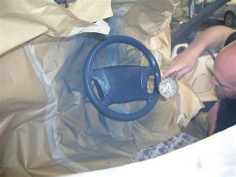 Lederlenkrad Lackieren by Leather Recolouring Modern Car Restoration