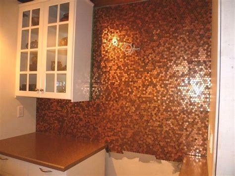 make a penny backsplash for an expensive look creative ideas 152 best images about house build on pinterest murphy