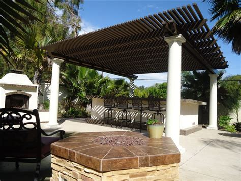 Free Standing Patios by Free Standing Patio Cover With Clay Roof Tile Pictures To