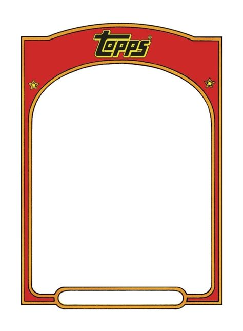 free baseball cards template trading card template free elsevier