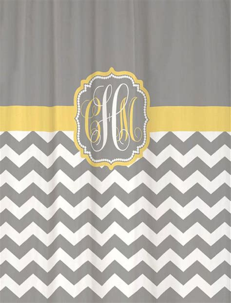 yellow and gray chevron shower curtain shower curtain chevron fabric you choose colors 70 74 78