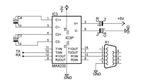 Converter Usb Ke Rs232 rangkaian converter rs232 ke ttl avr circuit
