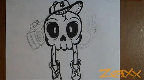 dibujo craneo de nino graffiti youtube