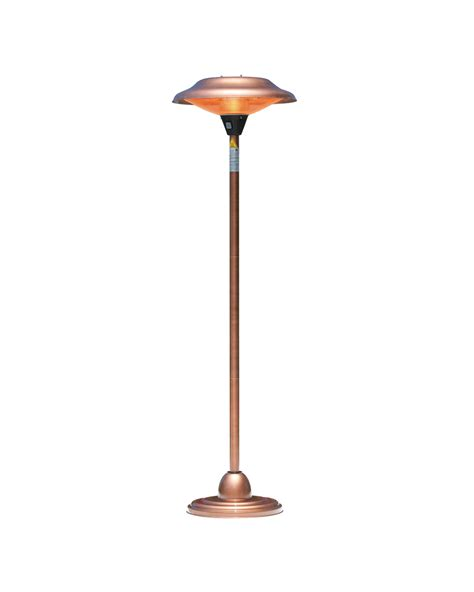 Fire Sense Floor Standing Round Copper Finish Halogen Copper Patio Heater