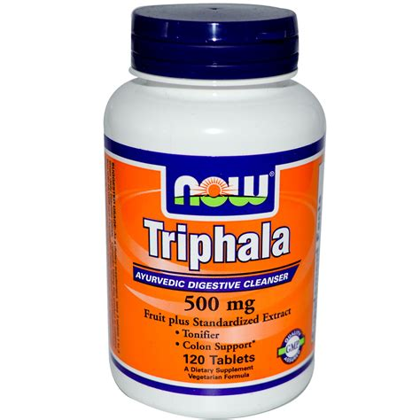 Triphala Detox Side Effects by Now Foods Triphala 500 Mg 120 Tablets Iherb