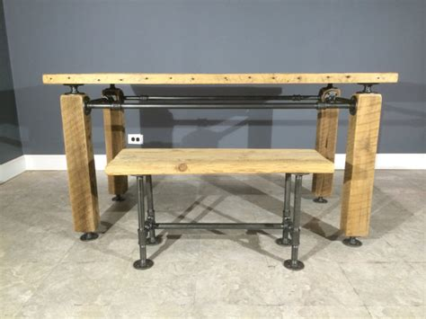 Gas Pipe Desk by This Beautiful And Unique Table Features A Modern