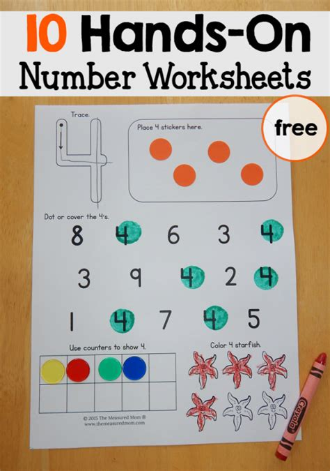 free number worksheets 1 10 number worksheets