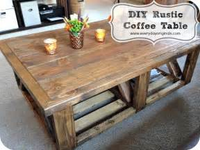 Rustic coffee table finished