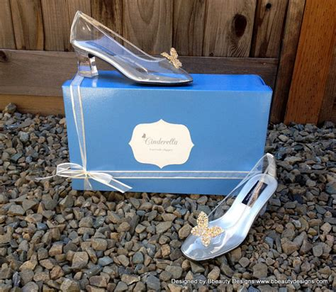 cinderella slippers for adults cinderella live 2015 butterfly glass slippers style