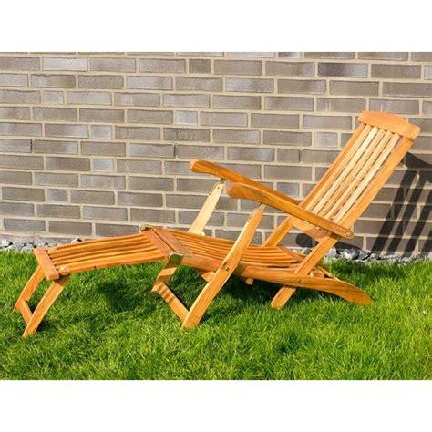 sedia sdraio giardino sedia sdraio da giardino in legno con braccioli e poggiapiedi