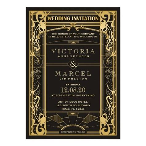 great gatsby themed invitation template 72 best images about printed wedding invitation templates