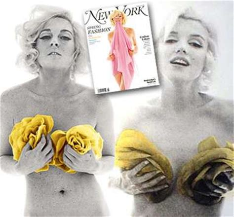 Lindsay Lohan Re Creates Marilyn Monroes Last Sitting For New York Magazine by Lohan Bares All To Be Recreating The Last Sitting