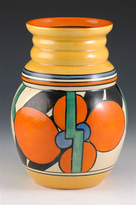Clarice Cliff Vase Shapes by Clarice Cliff 358 Shape Vase Picasso Flower Pattern