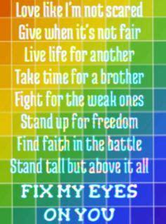 fix my eyes printable lyrics song lyrics on pinterest songs casting crowns and jamie
