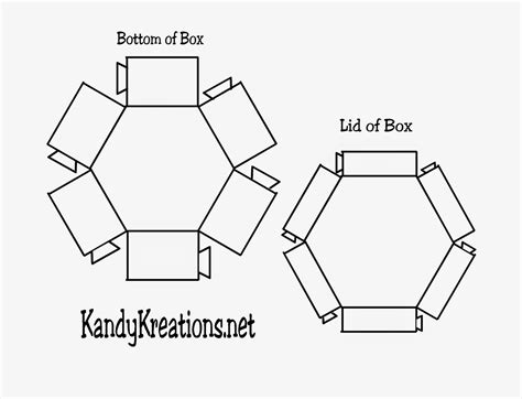hexgonal card template best photos of hexagon template printable box free