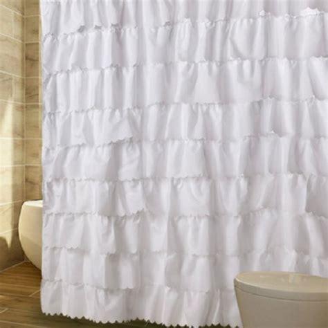 cheap ruffled curtains ruffled shower curtain
