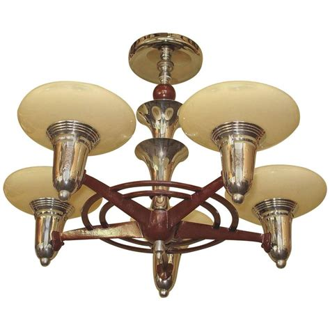 mid century modern semi flush mount lighting 1930s mid century semi flush mount five light fixture for